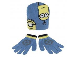 Čepice a rukavice MIMONI Cer 439 modrá