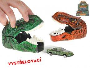 Auto 7cm kov volný chod vystřelovací z dinosauří hlavy