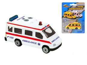Ambulance CZ 7cm kov volný chod na kartě