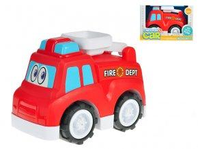 Auto hasičské veselé 25 cm volný chod v krabičce