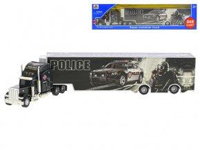 Kamion policie 35 cm kov na volný chod v krabičce