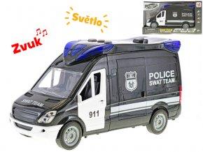 Auto zásahová jednotka 26 cm na setrvačník na baterie se světlem a zvukem s doplňky v krabičce