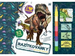 Omalovánka - Razítkovánky Dinosauři