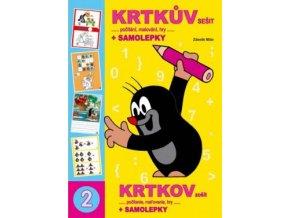 Omalovánka A4 book Krtkův sešit a samolepky