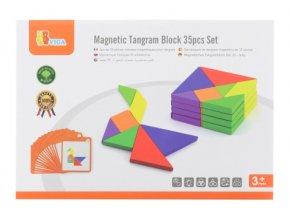 Dřevěné magnetické tangramy