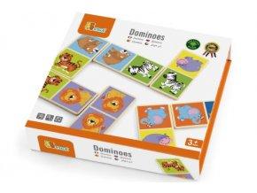 Dřevěné domino - divoká zvířata