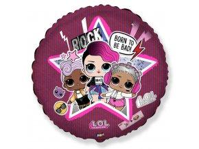 Balónek foliový L.O.L STAR 45 cm