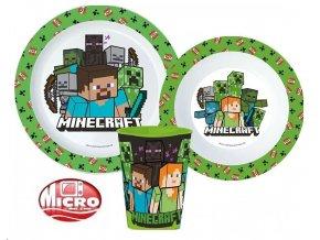 3 - dílný plastový set MINECRAFT