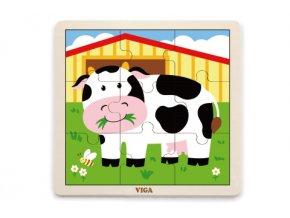 Dřevěné puzzle - kráva