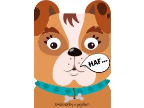 Omalovánka A4 zvířátka - Pes
