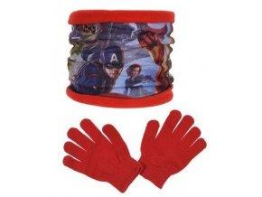 Nákrčník a rukavice AVENGERS ph 4243 červený