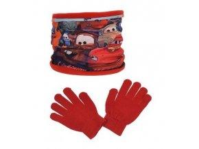 Nákrčník a rukavice CARS ph 4238 červený