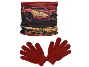Nákrčník a rukavice CARS rh 4248 červený