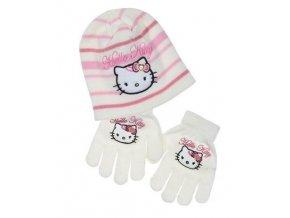 Čepice a rukavice HELLO KITTY box f 4295 krémová