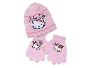 Čepice a rukavice HELLO KITTY box f 4295 růžová