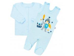2 - dílná kojenecká bavlněná soupravička New Baby Knight