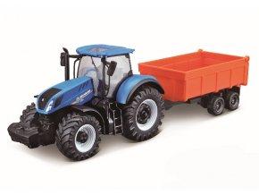 Bburago Farm Traktor s vlečkou 10 cm