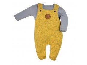 2 - dílná kojenecká souprava Koala Koala melírovaná žlutá