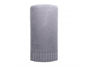 Bambusová pletená deka NEW BABY 100x80 cm šedá
