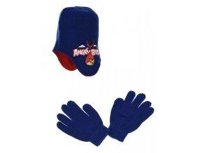 Peru čepice a rukavice ANGRY BIRDS ho 4159 tm. modrá