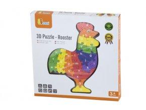 3D Puzzle - Kohout s písmenky
