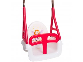 Dětská houpačka 3v1 princess Swing white
