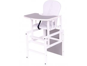 Borovicová židlička Drewex Antonín Hvězdičky šedá