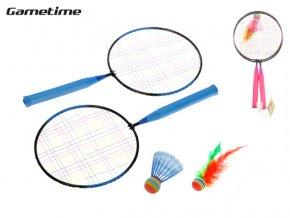 Badmintonové rakety 44 x 22 cm 2 ks s košíčky 2 ks