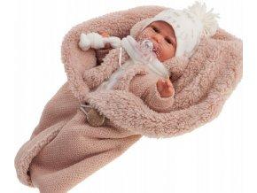 CLARA - realistická panenka miminko se zvuky 34 cm