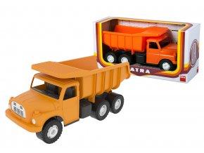 Auto Tatra 148 oranžová plastová 30 cm