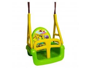 Dětská houpačka 3 v 1 safari Swing green