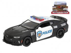 Auto Camaro ZL1 policejní 1:38 kov na zpětný chod