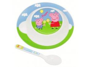 2 - dílný plastový set PEPPA PIG baby