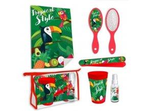6 - Dílná hygienická taštička Papoušek
