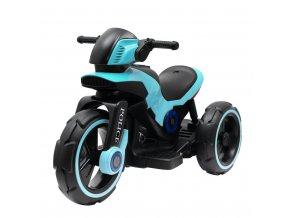 Dětská elektrická motorka Baby Mix POLICE modrá
