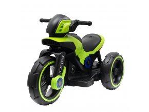 Dětská elektrická motorka Baby Mix POLICE zelená