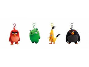 Angry Birds: 9cm plyšová hračka s nylon přívěskem
