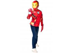 Avengers: Iron Man - kostým triko s vycpávkami a maska
