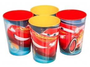 Sada 4 KS plastové skleničky CARS Eli 0018