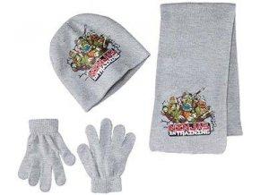 Šála, čepice a rukavice NINJA nh 4281 šedá