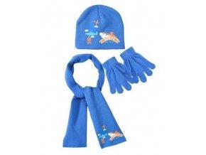 Šála, čepice a rukavice PLANES nh 4338  modrá