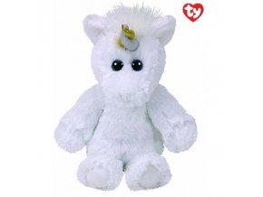 Plyšová hračka unicorn 20 cm Din  TY 65021 bílý