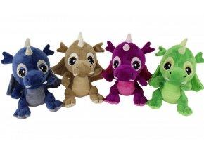 Plyšová hračka drak 23 cm Din  30253