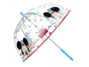 Deštník MICKEY Va 0346 průhl., modrá ruk.