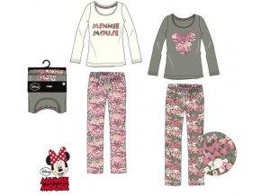 Pyžamo MINNIE hs 3571 (dospělé velikosti) bílo - růžové