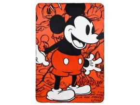 Flísová deka MICKEY 150 x 100 cm hs 4242 černý lem