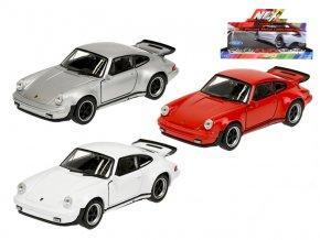 Auto Porsche 911 Turbo 11 cm kov na zpětný chod