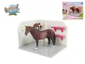 Box pro koně dřevěný 18x12x15 cm 1:24 v krabičce