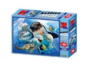 3D Puzzle Podmořské selfie 48 dílků