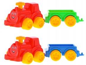 Lokomotiva 23,5cm s vagónem 12m+ 2barvy v síťce